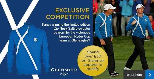 Glenmuir Ryder Cup  Saltire sweater competition
